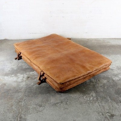 Leather Gym mat from the thirties by unknown designer for unknown producer