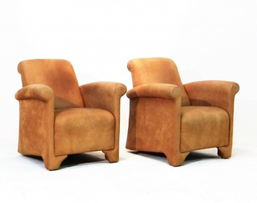 Set of 2 Club lounge chairs from the seventies by unknown designer for unknown producer