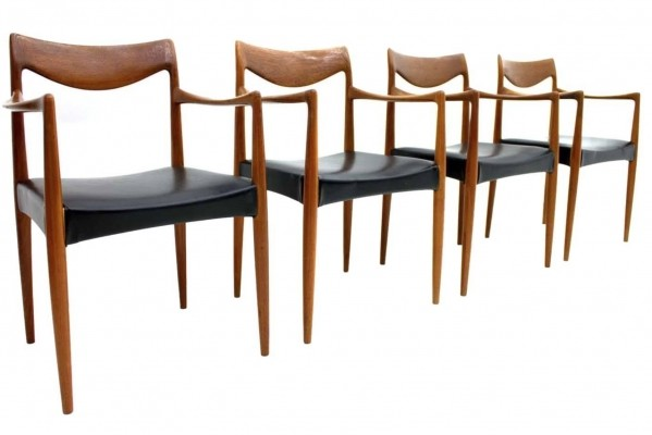 Set of 4 Bambi dinner chairs by Adolf Relling & Rolf Rastad, 1950s