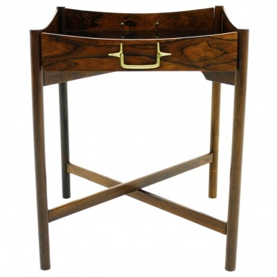 Danish Tray Table with Brass Details, 1960s