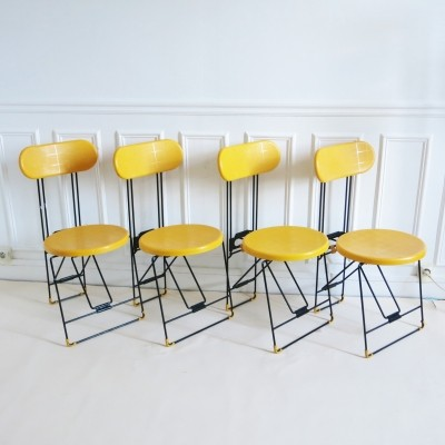 Set of 4 Cricket dinner chairs from the eighties by Andries van Onck & Kazuma Yamaguchi for Magis