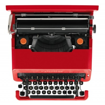 Valentine Typewriter from the sixties by Ettore Sottsass & Perry King for Olivetti
