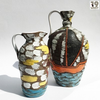 Two jug vases by Fratelli Fanciulacci, 1950s
