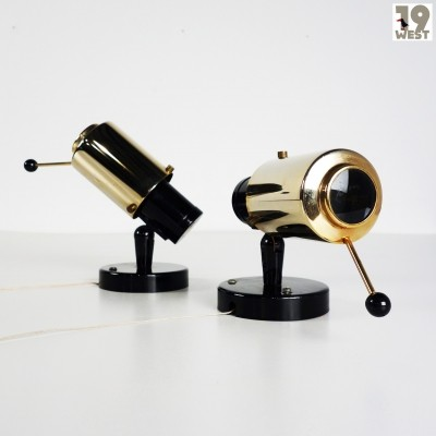 Pair of Zodiac wall lamps by Jacques Biny for Lita France, 1950s