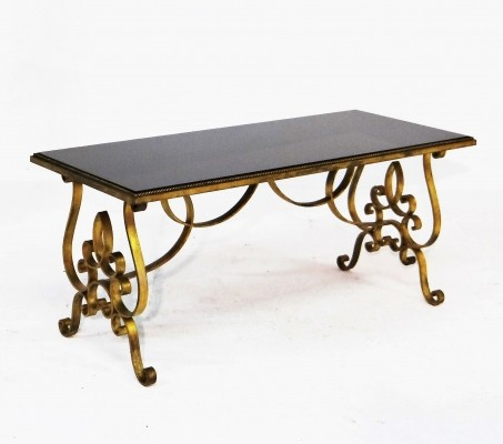 Gilded metal coffee table, 1930s