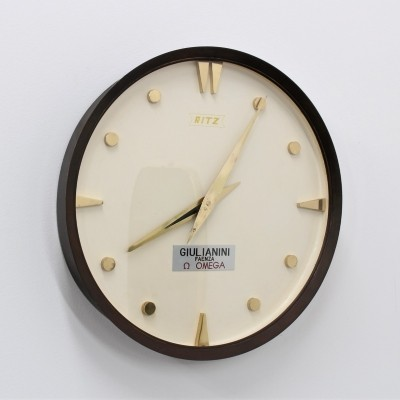 Clock from the fifties by unknown designer for Ritz