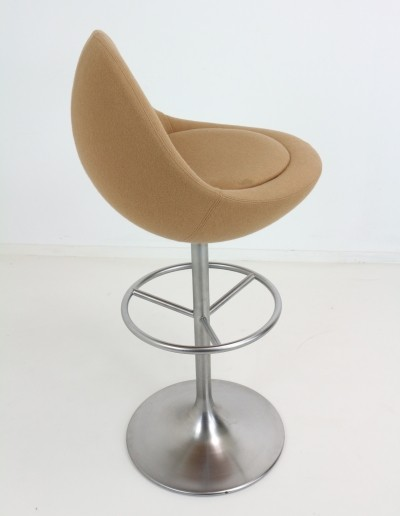 Three Trumpet Base Swivel (Venus) Barstool by B. Johanson, 1960s