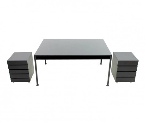 Partner Desk with two container by Dieter Rams for Vitsoe