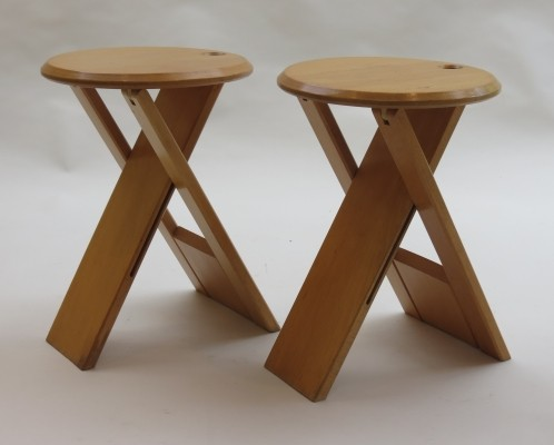Set of 2 Suzy stools from the eighties by unknown designer for Princes Design Works Ltd