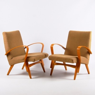 2 arm chairs from the sixties by unknown designer for Tatra Nabytok NP
