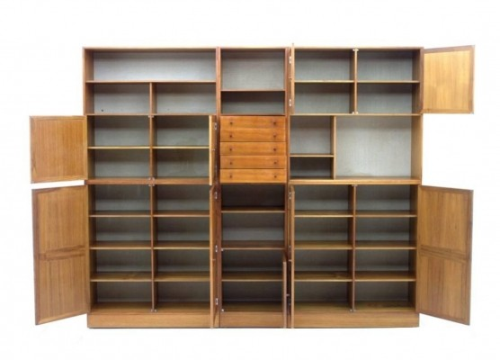 Library wall unit from the sixties by Rud Thygesen & Johnny Sorensen for HG Furniture