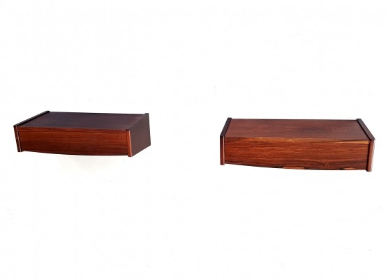 Set of 2 Night table wall units from the sixties by unknown designer for unknown producer