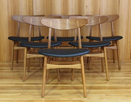 Set of 6 CH30 dinner chairs from the fifties by Hans Wegner for Carl Hansen & Son