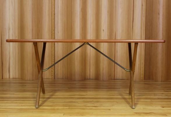 AT303 dining table by Hans Wegner for Andreas Tuck, 1950s