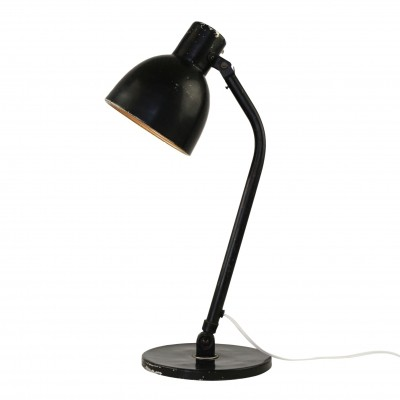 Black industrial desk light, 1950s