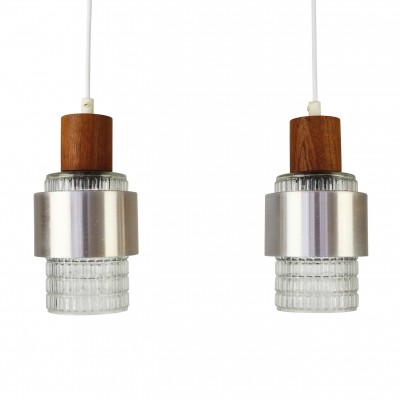 Pair of Danish design pendant lights, 1960s