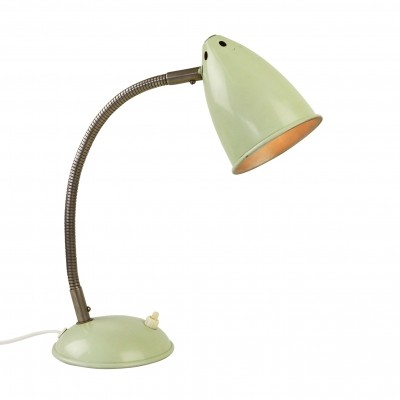 Lime green desk light by Hala Zeist, 1950s