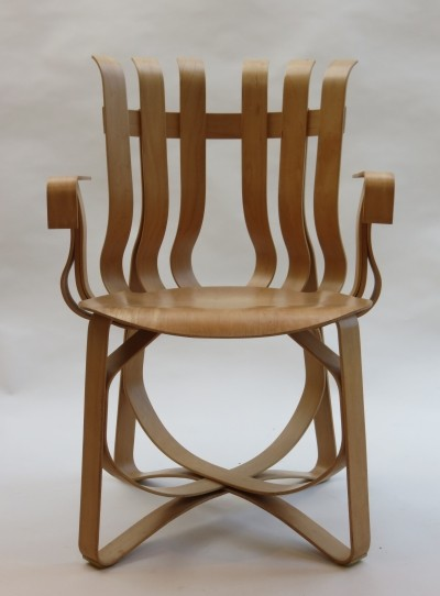 Hat Trick dinner chair by Frank Gehry for Knoll, 1990s