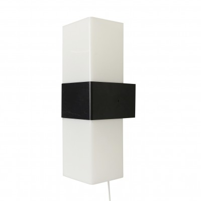 Black & white wall light by Asea Skandia, 1970s