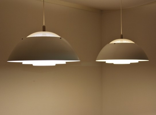 Set of 2 Safari hanging lamps from the sixties by Christian Hvidt for Nordisk Solar