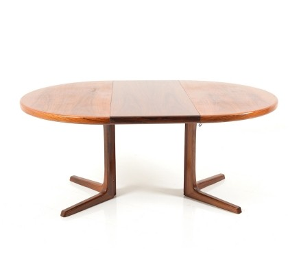 Circular / Extendable rosewood Dining Table by Faarup, 1960s