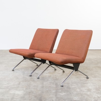 Set of 2 model 1431 lounge chairs from the sixties by André Cordemeyer for Gispen