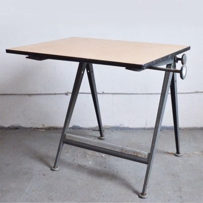 Reply writing desk from the fifties by Friso Kramer & Wim Rietveld for Ahrend de Cirkel