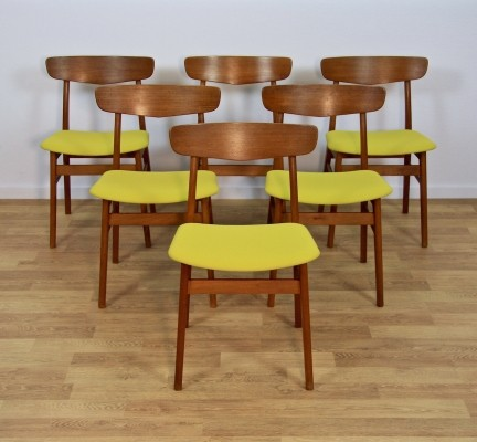 Set of 6 dinner chairs from the sixties by unknown designer for Farstrup