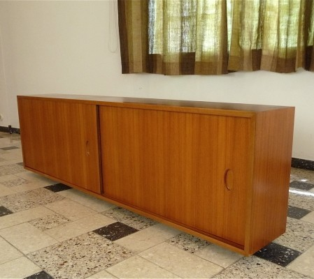 German Hanging Walnut Sideboard by Georg Satink for WK Möbel, 1950s