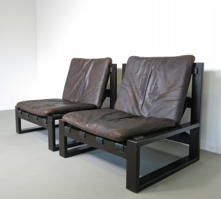 Set of 2 lounge chairs from the sixties by Sonja Wasseur for Sonja Wasseur