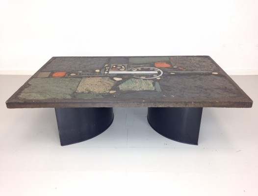 Ceramic & Slate Coffee Table by Paul Kingma, 1974