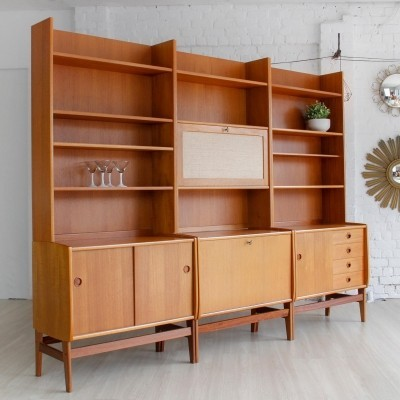 Set of 3 wall units from the sixties by unknown designer for unknown producer