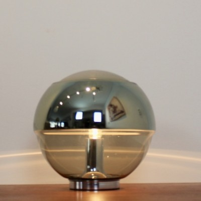 Exquisite Peill & Putzler Chromed Mirror full Glass Table Lamp