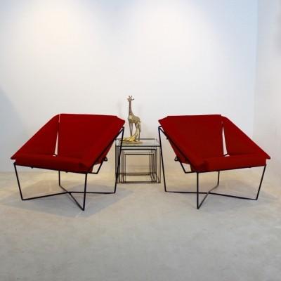 Sculptural Pair of Van Speyk Easy Chairs by Rob Eckhardt, The Netherlands