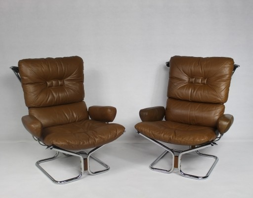 Pair of arm chairs by Harald Relling for Westnofa, 1960s