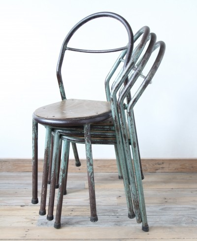 4 dinner chairs from the fifties by unknown designer for Mobilor