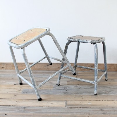 2 stools from the sixties by unknown designer for unknown producer