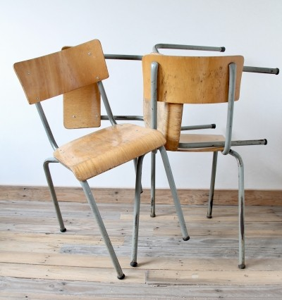 9 dinner chairs from the seventies by unknown designer for unknown producer