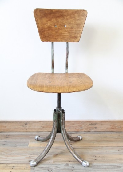 Office chair from the thirties by unknown designer for unknown producer