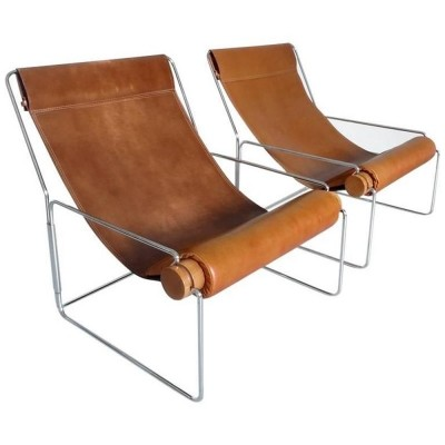 2 x Londra 840 lounge chair by Brian Kane for Mobel Italia, 1970s