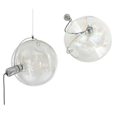 2 Sona hanging lamps from the seventies by Carlo Nason for Lumenform
