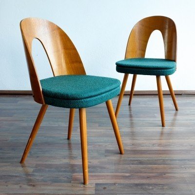 Set of 2 dinner chairs from the sixties by Antonin Šuman for Tatra Nabytok NP