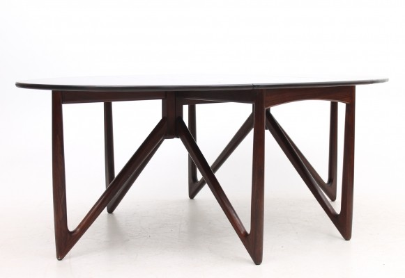 Gate-leg dining table from the sixties by Niels Koefoed for Koefoeds Hornslet