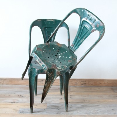 2 dinner chairs from the twenties by Joseph Mathieu for unknown producer