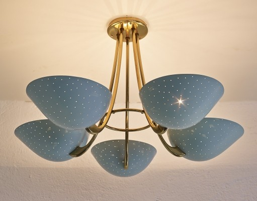 Elegant ceiling lamp by BAG Turgi, 1950s