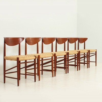 Set of 6 Model 316 dining chairs by Peter Hvidt & Orla Mølgaard Nielsen for Søborg Møbelfabrik, 1950s