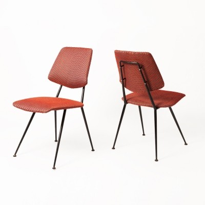 Set of 4 Gastone Rinaldi dinner chairs, 1950s