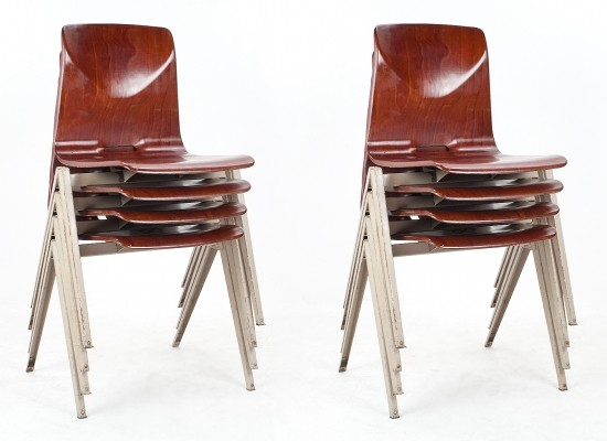 18 S22 dinner chairs from the sixties by unknown designer for Galvanitas