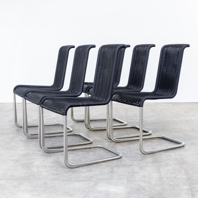 Set of 6 B20 dinner chairs by Jean Prouvé for Tecta, 1980s