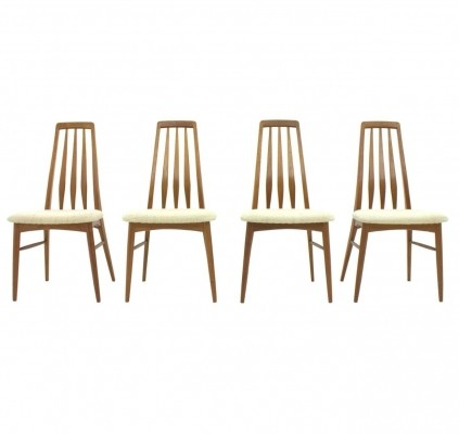 Set of 4 Eva dining chairs by Niels Koefoed for Hornslet Møbelfabrik, 1950s